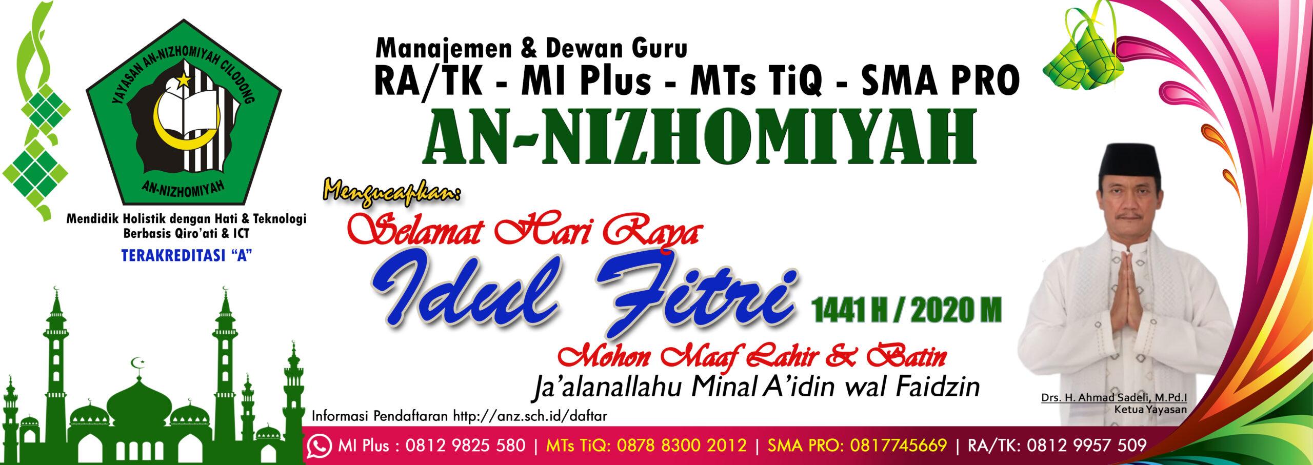 Selamat Hari Raya Idul Fitri 1 Syawal 1441 H / 2020 M